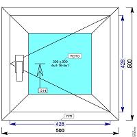 Окно пвх 500х500 мм поворотное
