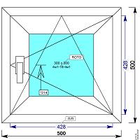 Окно пвх 500х500 мм пов/откидное