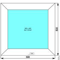Окно пвх 500х500 мм глухое